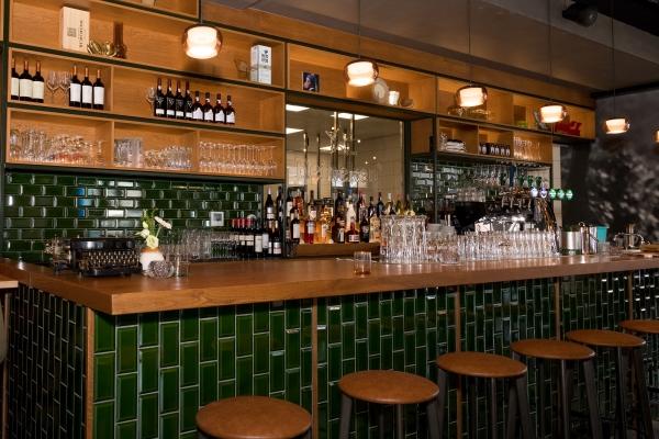 De sfeervolle bar van Grand Cafe Wijntje